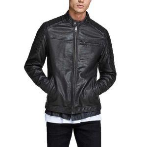 JACK & JONES Biker Faux Leather Jacket